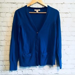 Banana republic royal blue cardigan